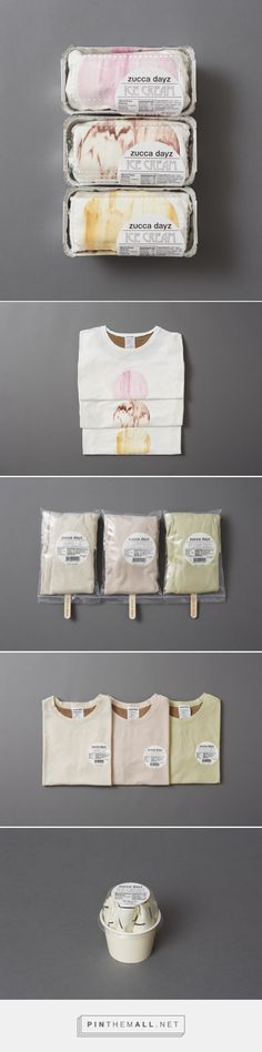 Art direction, branding and packaging by Rikako Nagashima for Zucca Days Ice Cream Fashion curated by Packaging Diva PD. Yummy fashion packaging ideas : )