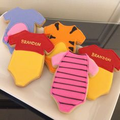 Winnie the Pooh Inspired Baby Cookies by ASweetMorselCo on Etsy https://www.etsy.com/listing/230570717/winnie-the-pooh-inspired-baby-cookies