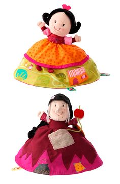 Reversible Snow White puppet