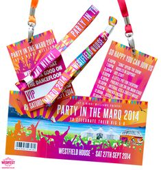 Festival Birthday Party Invites, Wristbands & Lanyards - Last summer Nikki & Jay got in touch with Wedfest looking for festival themed stationery for a party they were throwing Coachella Party Theme, Coachella Birthday, Ibiza Party, Festival Themed Wedding, Festival Party, Festival Style, Festival Fashion, Birthday Party Invitations, Birthday Party Themes