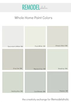 Whole Home Paint Colors that Look Amazing! Tips for choosing a whole home paint…
