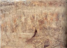 Anselm Kiefer / Lilith, 1987-1990 / oil, emulsion, shellac, plumb, poppy, hair and clay on canvas, 380 x 560 cm / © Anselm Kiefer, 2011 / Courtesy Stiftung für Kunst und Kultur e.V.