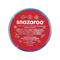 Snazaroo Classic Face Paint, 18ml, Bright Red Snazaroo