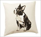 Boston Terrier Pillow Cover from Pottery Barn - I paid more for it at the outlet than I would have online?