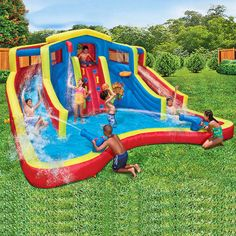 This huge item features two curved water slides, two water-blasting cannons, a basketball activity area and a water-spraying spout for multiple fun activities. There is plenty of room in the top tunnel of this Banzai water park to meet with friends and join the Adventure Club. | eBay!