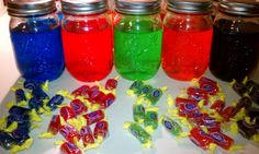 The Jolly Rancher Vodka by popular demand. We created our Jolly Rancher Vodka with 8 flavored ranchers in each bottle. Want it sweeter Try Next time well taste our Jolly Jolly Rancher Moonshine Recipe, Jolly Rancher Drink, Bar Drinks, Yummy Drinks, Drink Menu, Refreshing Drinks, Yummy Food, Homemade Moonshine, Flavored Moonshine Recipes