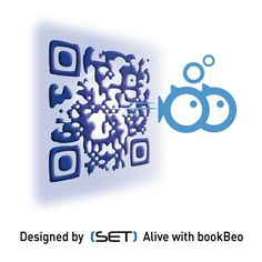 QR Code designé pour BlooPlanet, le premier réseau social de la mer créé par DCNS. Qr Codes, Tray, Coding, Design, Trays, Programming, Board