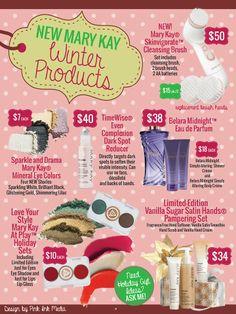 NEW Mary Kay Winter products. www.marykay.com/jserrano711