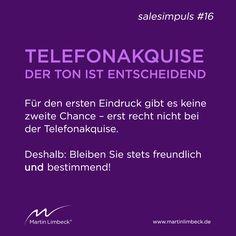 #salesimpuls #16 - Für den ersten Eindruck gibt es keine zweite Chance! www.martinlimbeck.de