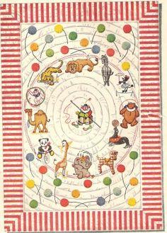 1947 Vintage CIRCUS PATTERN baby crib quilt top   animals clown  annasquilts.ecrater.com