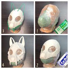 Clear wrap around plastic bags I think || 倉戸みとの創作ノウハウ共有サイト【黒の錬金術学会】: 軽量ねんどで「骨マスク」の作り方 Cosplay Tutorial, Cosplay Diy, Diy Costumes, Cosplay Costumes, Fursuit Tutorial, Cardboard Crafts, Furry Art, Mask Design, Halloween Diy