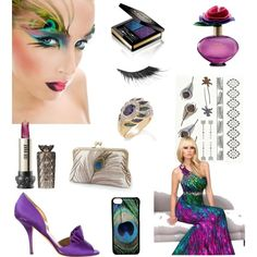 walk with a peacock by chathurika-gamage on Polyvore featuring Kate Spade, CellPowerCases, Boohoo, Gucci, Anna Sui and Illamasqua