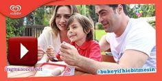 Birce Akalay,Sarp Levendoğlu ve Emir Berke Zincidi ilk Algida reklamlarını çekerken