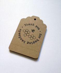 Perforated Price Tags Customized with your logo or design -  100 Kraft Paper Brown - Retail Tags Ready for Handmade Gifts