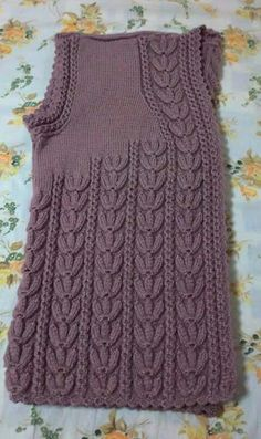 Orguler Hand Knit Blanket, Knitted Blankets, Knitted Hats, Easy Knitting Patterns, Knitting Designs, Crochet Patterns, Girls Sweaters, Sweaters For Women, Knit Baby Dress