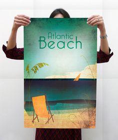 RadWorks Rumors // 26—Vintage Style Atlantic Beach Poster   www.radworkss.com