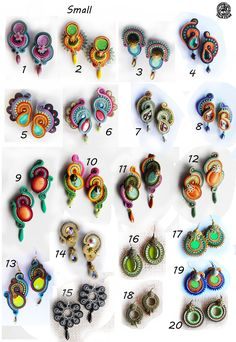 Small size earrings for $30 (Order your own colors!)
