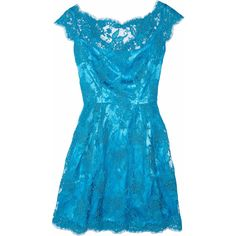 Issa Silk-satin and lace dress ($411) ❤ liked on Polyvore featuring dresses, vestidos, blue, short dresses, lace overlay cocktail dress, blue lace cocktail dress, blue mini dress, blue dress and blue lace dress