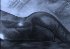 The Curve - Charcoal on Board by Vincent Kennard