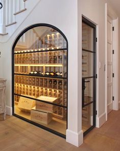 Under the stairwell, this wine closet strikes a stylish chord when it comes to k. Under the stairwell, this wine closet strikes a stylish chord when it comes to kitchen wall decor ideas Interior Design Living Room, Interior Decorating, Interior Design Ideas For Small Spaces, Gypsy Decorating, Interior Modern, Best Interior Design, Room Interior, Interior Ideas, Decorating Ideas