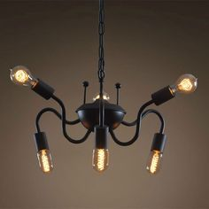 New Vintage Spider Crab Chain Pendent Light Chandelier Modern Animal…