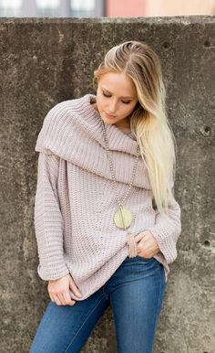 All Bundled Up Sweater - Mauve. This is one of our absolute favorite pieces here at the Peach. Soft, chunky knits are going to be so hot this season; shop it now before they're gone!