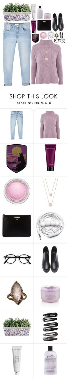"""""""Wanna be with you"""" by grandbudapest ❤ liked on Polyvore featuring MANGO, Topshop, Marc Jacobs, Calvin Klein, MAC Cosmetics, Michael Kors, Givenchy, Urbanears, Victoria's Secret and Clips"""