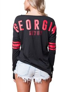 University of Georgia Bulldogs Womens Spirit Football Jersey