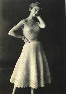 Free Vintage Dress Crochet Pattern - Organdy Ribbon Dress | Hook, Yarn, and Needles the Old Stuff