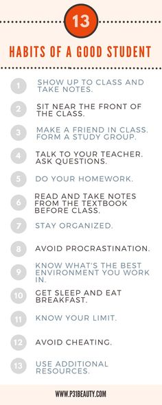 Ultimate Guide to Getting Good Grades in School This Year 13 Habits of a Good Student! Read the post: The Ultimate Guide to Getting Good Grades in School This Year. Learn how to form good study habits, take notes, and study effectively before test day. Study Tips For High School, High School Life, High School Hacks, Life Hacks For School, School Goals, School Tips, Study Tips For Students, College Math, College Hacks