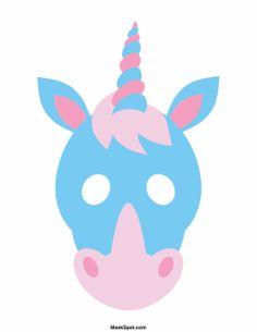 Unicorn Mask from Free Unicorn Printables via Mandy's Party Printables