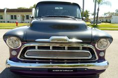 1957 Chevy Chevrolet Short Bed Pro Touring Show Truck Pickup Pick Up Custom Photos and info - TenWheel 57 Chevy Trucks, Chevy Pickups, 1955 Chevy, Chevy Chevrolet, Chevy Apache, Panel Truck, Show Trucks, Bad To The Bone, Hot Rides