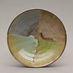 From the Harding Black collection at Baylor University - Mid-career 1964 front - Wheel-thrown stoneware w/test glazes 2 x 6.75 x 6.75