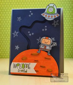 JJ Bolton {Handmade Cards} - Amazing interactive space card.