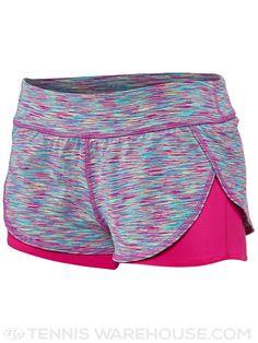 Tonic Women's Circuit Tennis Short (Carnival Print w/Pink)