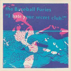 "Art Chantry album art: The Baseball Furies ""I Hate Your Secret Club"""