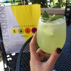 Instagram #nsale 2015 Nordstrom Anniversary Sale Nordstrom Santa Anita cafe melon wine spritzer