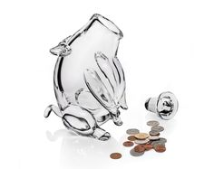 Piggy bank looks cute and desperate - but in a good way #money #saving