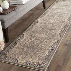 Safavieh Vintage Distressed Boho Merita Oriental Rug x Runner - Taupe/Black), Brown Carpet Runner, Rug Runner, Black Runners, Transitional Area Rugs, Polypropylene Rugs, Oriental Pattern, Online Home Decor Stores, Colorful Rugs, Vintage Rugs