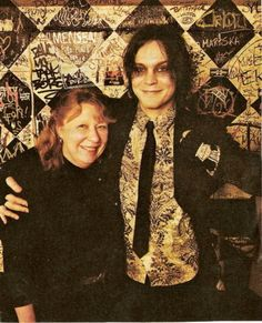 Ville Valo with I'm supposing his mum?