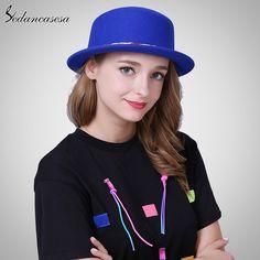 Female Boater Hat Bucket Hats Australian Wool Full Handmade Weave Rope Small Brim Fedora Hats for Women FW227008