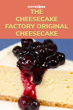 The Cheesecake Factory has more than 30 cheesecake flavors, but it's the original that makes us swoon. Try this copycat version, from the book Top Secret Restaurant Recipes Cheesecake Factory Original Cheesecake Recipe, Philadelphia Classic Cheesecake Recipe, Instant Pot Cheesecake Recipe, Lemon Cheesecake Recipes, Carrot Cake Cheesecake, How To Make Cheesecake, Homemade Cheesecake, Mini Cherry Cheesecakes, Creative Desserts
