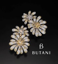 Sweet daisies earrings that are fun and glamorous for any wardrobe #Butani #ButaniJewellery #summer #daisy