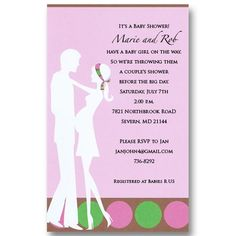 Jack jill baby shower invitation ideas future plans pinterest pink expecting couples baby shower invitations filmwisefo
