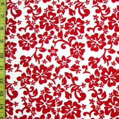 Style: PS-3819 Width: 60 Color: Red/White Per Yard Price: $13.00 Description: Four Way Stretch Nylon Spandex