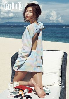 Actress Baek Jin Hee posed for 'The Celebrity' after wrapping up her drama, 'Pride and Prejudice'. Backdrop for this photoshoot is in Bali, Indonesia- one of my dream vacation Baek Jin Hee, Korean Face, Celebrity Magazines, Pride And Prejudice, Actor Model, Celebs, Celebrities, Korean Women, Korean Actors