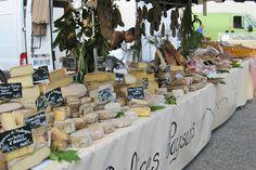 French cheese at the Tournon market