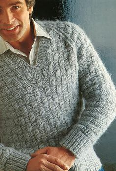 Mens knitted Jumper Pattern PDF NO.   From TImelessOne Shop