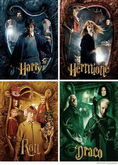 Harry Potter, Hermione Granger, Ron Weasley and Draco Malfoy in The Chamber of Secrets Harry Potter Hermione, Harry Potter Tumblr, Magia Harry Potter, Estilo Harry Potter, Mundo Harry Potter, Draco Harry Potter, Harry Potter Pictures, Harry Potter Quotes, Harry Potter Characters