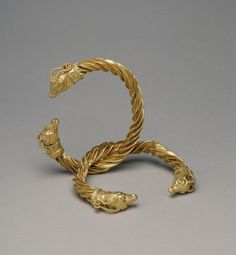 Gold Bracelets with Antelope Heads  Greek  4th Century BC